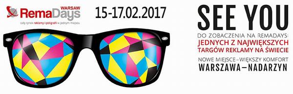 Targi reklamy - RemaDays - Warszawa - 15-17.02.2017
